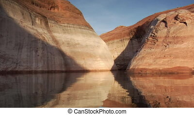 extreme slow-motion Lake Powell canyons Utah four