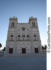 Tunisia. Carthage. Byrsa hill - Saint Louis cathedral