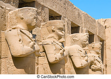 Karnaks temple in the city of Luxor Egypt