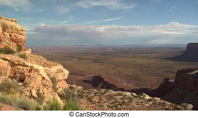 Panning of shot Moki Dugway in Southern Utah