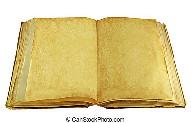 antique book isolated on a white background