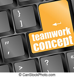 teamwork concept key showing business insurance concept