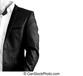 Man In Suit - A man in a suit isolated over white