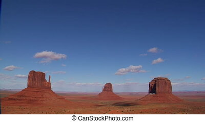 wide shot of Monument Valley Utah
