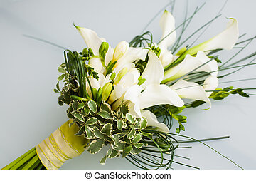 Lillies - A big flower bouquet filled with cala lillies and...