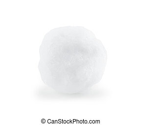 Snowball closeup on white background