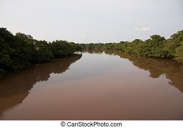 Chocolate River - River in Eastern Congo with chocolate...