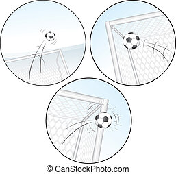 Scoring a Goal. Football Vector Images