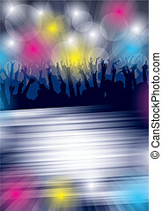 Dance Party Flayer - Eps10 Vector background with dancing...