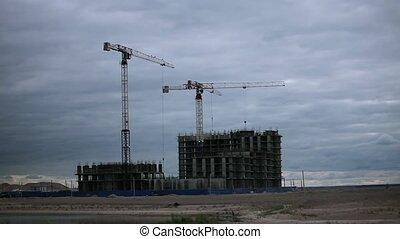 tower cranes work