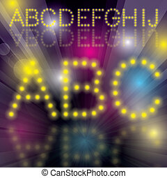 Disco Alphabet Vector disco letters alphabet with blends All...