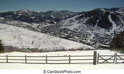 wide shot of old town Park city Utah and