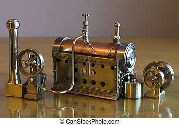 Model steam engine - Small working model steam engine and...