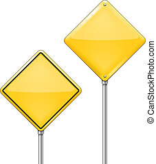 Empty Warning sign - Vector Empty Warning signs isolated on...