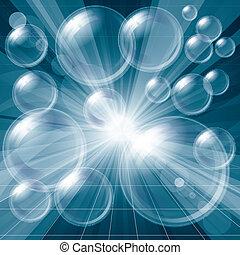 Transparent Bubbles Background - Vector eps 10 Transparent...
