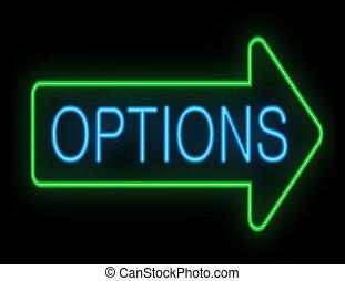 Options concept.