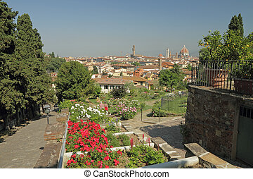 fantastic view of Florence from Rose Garden - Rose Garden...