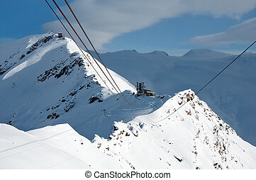 Cable car to Rote Nase, Switzerland