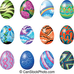 Colorful easter eggs - Illustration of the colorful easter...