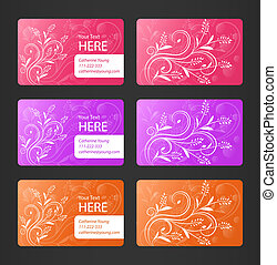 Business Cards with Floral Theme