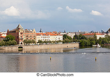 Czech republic, Prague, look on Gradchana and the Vltava...