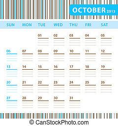 Planning Calendar - October 2013