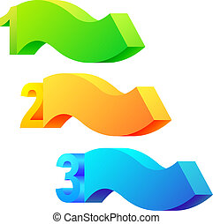 One two three - 3D vector.
