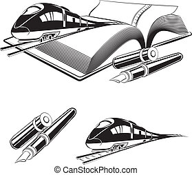 High speed train Vector illustration, eps 10, contains...
