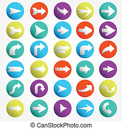 Arrow sign icon set vector - Arrow sign icon set Simple...
