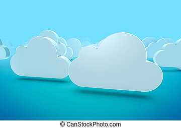 Cloud - 3D Illustration of Cloud Concept Render isolated on...