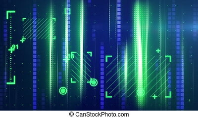 green blue abstract tech background - green blue abstract...