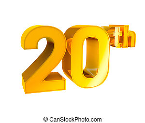 Gold Alphabet Anniversary 20 - 3D Gold Character Collection....