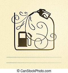Gas pump. Vector illustration, eps 10, contains...