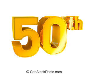 Gold Alphabet Anniversary 50 - 3D Gold Character Collection...