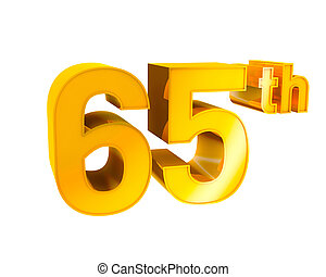 Gold Alphabet Anniversary 65 - 3D Gold Character Collection...