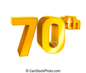 Gold Alphabet Anniversary 70 - 3D Gold Character Collection....