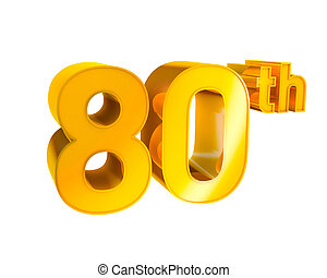 Gold Alphabet Anniversary 80 - 3D Gold Character Collection...