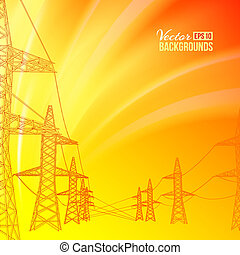 Electric power transmission Vector illustration, eps 10,...