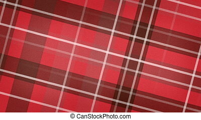 red scottish checked fabric loop