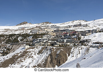 Sierra Nevada - Ski resort Sierra Nevada in southern Spain,...