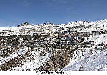 Sierra Nevada - Ski resort Sierra Nevada in southern Spain,...