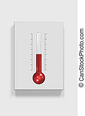 3D Thermometer - 3D Illustration of Thermometer Render...