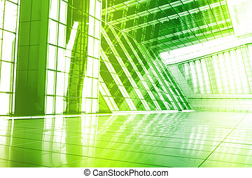 Green Trendy Creative Abstract Wallpaper Background