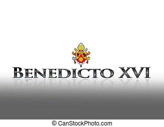 Benedicto XVI - Illustration with wor