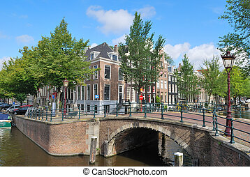 Amsterdam Bridge across the canals - Amsterdam The bridge at...