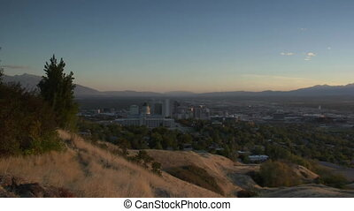 wide shot of Salt Lake City Utah  wide shot