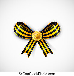St George ribbon with medal Eps 10