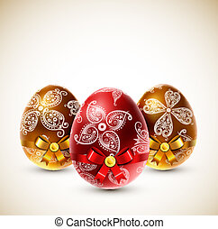 Eggs with bows
