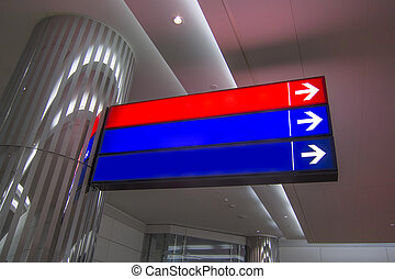 Airport direction sign - Airport blank direction sign