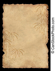 Sheet rice paper with figure of bamboo - Background - sheet...